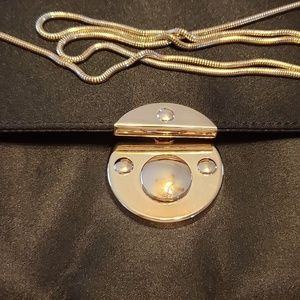 NWT Kate Landry clutch with gold chain.